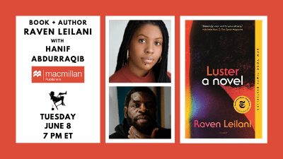 Image shows the authors and featured book cover for event on 6/8/21 at 7pm